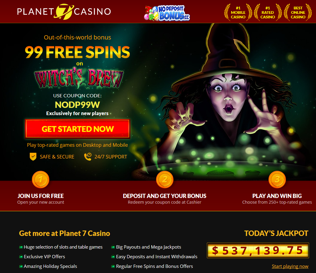 Planet 7 Casino 99 FREE SPINS